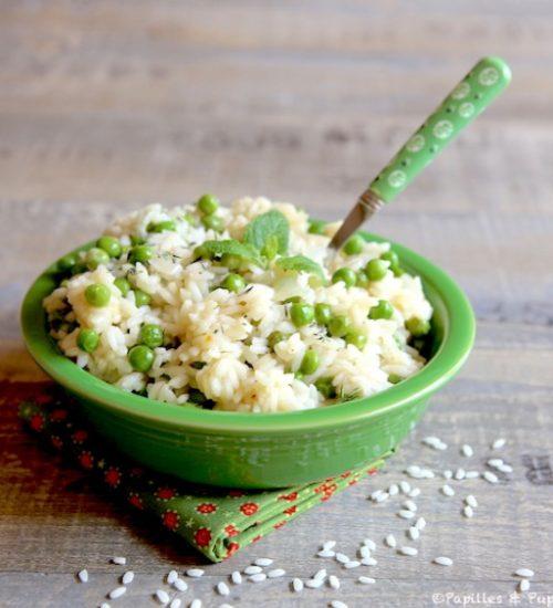 risotto aux petits pois et à la menthe,recettes